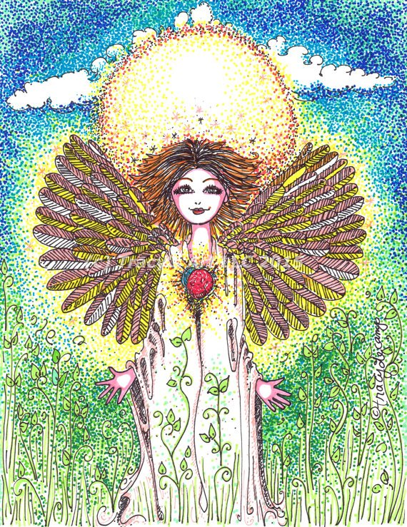 Virgo. Angel Art - Handmade OriginalArt by TracyDeCamp